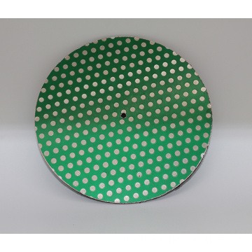 14inch Diamond Lapidary Glass Ceramic Porcelain Magnetic Dot Pattern Grinding Disk Lap Flat